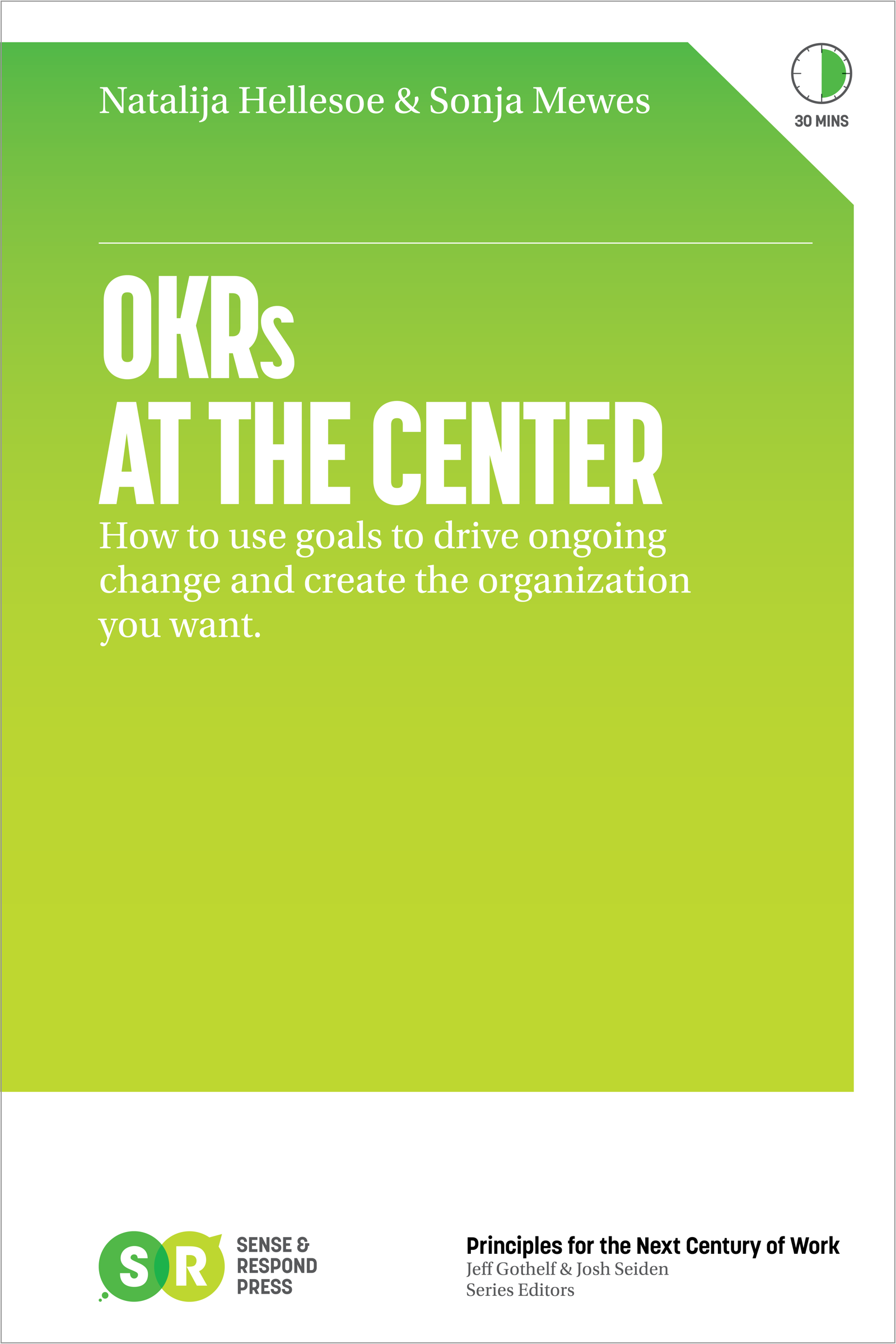 OKR at the center Book cover
